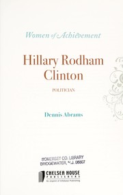 Cover of: Hillary Rodham Clinton