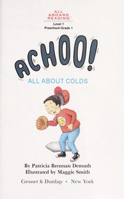 Cover of: Achoo! | Patricia Demuth
