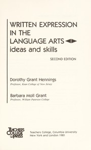 Cover of: Written expression in the language arts