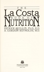 Cover of: The La Costa book of nutrition