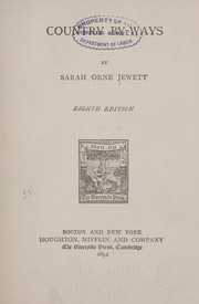 Cover of: Country by-ways | Sarah Orne Jewett