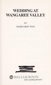 Cover of: Wedding at Wangaree Valley | Margaret Way