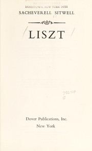 Liszt by Sacheverell Sitwell