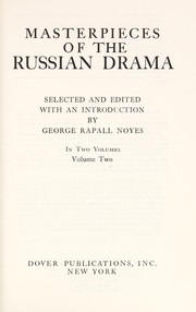 Cover of: Masterpieces of the Russian Drama