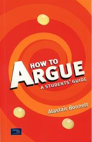 Cover of: How to argue