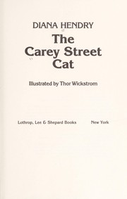 Cover of: The Carey Street cat