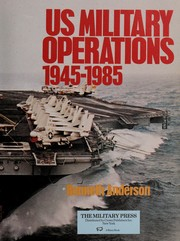 Cover of: US military operations, 1945-1985 | Kenneth Anderson