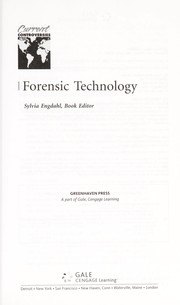 Cover of: Forensic technology | Sylvia Engdahl