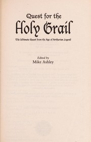Cover of: The chronicles of the Holy Grail | Michael Ashley