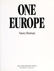 Cover of: One Europe