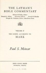 Cover of: THE LAYMAN'S BIBLE COMMENTARY   VOLUME 17   THE GOSPEL ACCORDING TO MARK