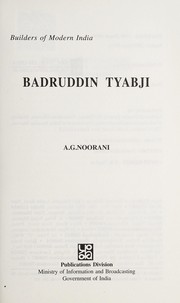 Cover of: Badruddin Tyabji