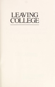 Cover of: Leaving college | Vincent Tinto