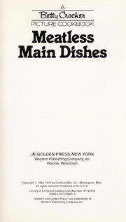 Cover of: Meatless main dishes. |
