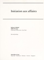 Cover of: Initiation aux affaires | Barbara Rolland