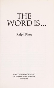 Cover of: The word is ..