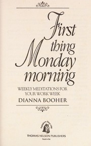 Cover of: First thing Monday morning