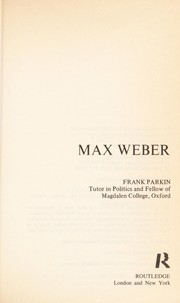 Cover of: Max Weber | Frank Parkin