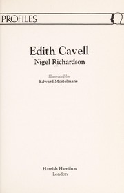 Cover of: Edith Cavell (Profiles) | Nigel Richardson