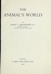 Cover of: The animal's world