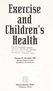 Cover of: Exercise and children's health