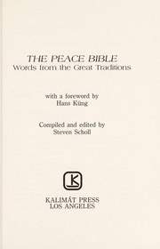 Cover of: The Peace Bible |