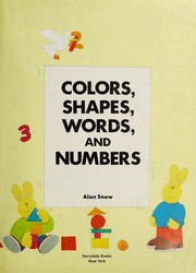 Cover of: Colors, shapes, words, and numbers