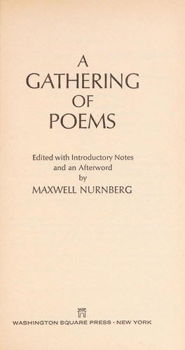 Gatherng of Poem by Maxwell nurnberg