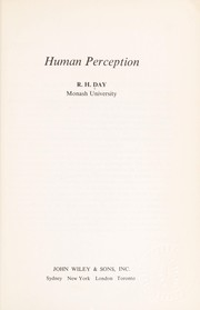 Cover of: Human perception
