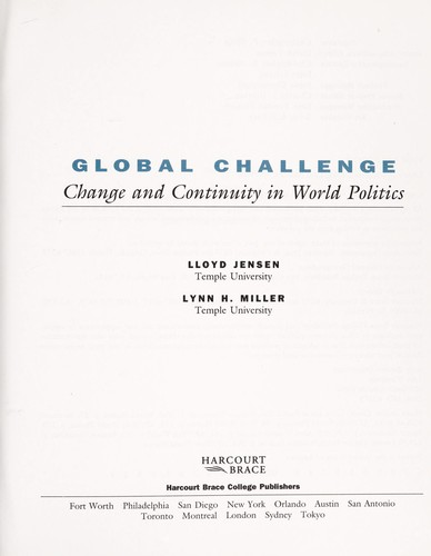 Global challenge by Lloyd Jensen