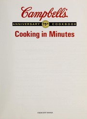 Cover of: Campbell's (R) Cooking in Minutes | RH Value Publishing