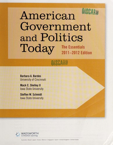 American government and politics today by Barbara A. Bardes