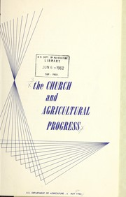 Cover of: The church and agricultural progress | United States. Department of Agriculture