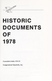 Historic Documents of 1978 (Historic Documents)