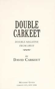 Cover of: Double Carkeet