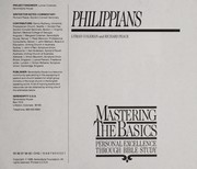 Cover of: Mastering Basics-Philippians: |