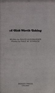 Cover of: A risk worth taking