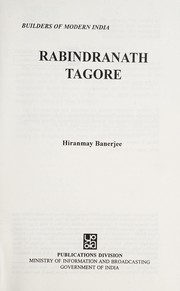 Cover of: Rabindranath Tagore