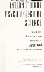 Cover of: International psychological science |