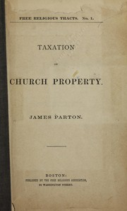 Cover of: Taxation of church property