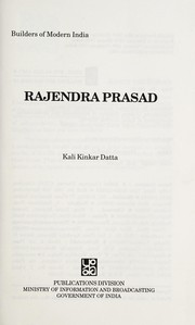 Cover of: Rajendra Prasad