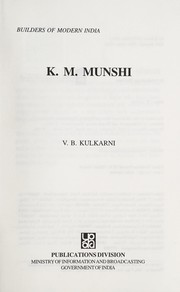 Cover of: K.M. Munshi