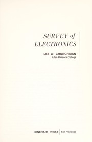 Cover of: Survey of electronics