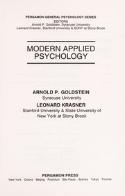 Cover of: Modern applied psychology