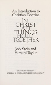 Cover of: In Christ all things hold together | Jock Stein