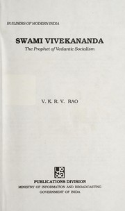 Cover of: Swami Vivekananda, the prophet of Vedantic socialism
