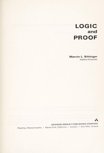 Logic and proof by Judith A. Beecher