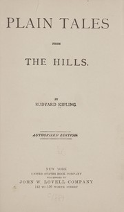 Cover of: Plain tales from the hills. | Rudyard Kipling