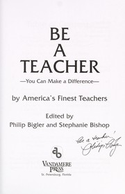 Cover of: Be a Teacher |