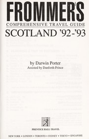 Cover of: Frommer's Scotland